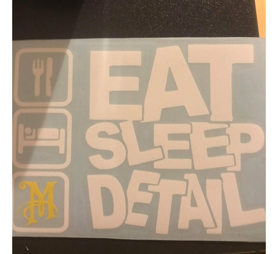 """Eat Sleep Detail"" -Klistermærke"